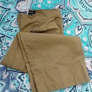 Who What Wear Khaki Wide Leg Cropped Gaucho Pant